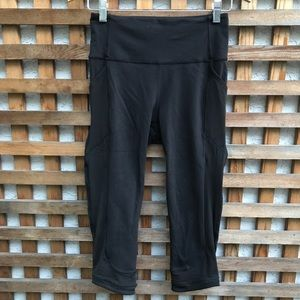 Lululemon High Rise Crop Leggings Black 6